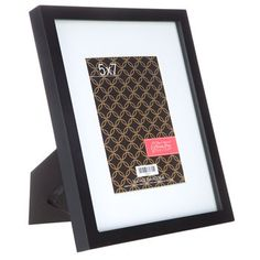 "5"" x 7"" Black Frame with White Mat"