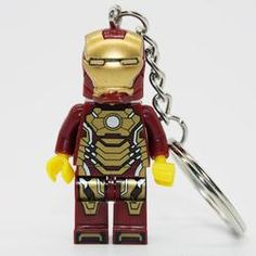 Iron Man Lego Keychain - WoodenNation Building Blocks Toys, Diy Keychain, Iron Man, Lego, Key Chain, Superhero, Handmade, Ring, Products