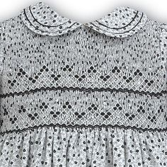 Toddler Girls Ivory Grey Smocked Dress Black Flowers By Sarah Louise Baby Girl Frocks, Frocks For Girls, Little Girl Outfits, Kids Outfits, Children's Outfits, Baby Girl Frock Design, Girls Smocked Dresses, Hand Embroidery Dress, Black Flowers