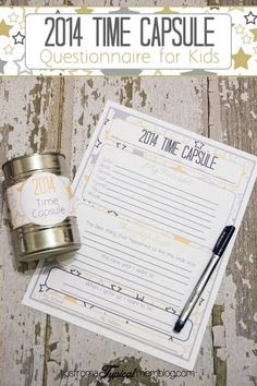Time Capsule Printable and Questionaire for Kids. Want to plan something fun for our Leap Year on February We have a list of Leap Day Activities for Kids and Families that will make you leap, jump and hop into some memorable fun! Kids New Years Eve, New Years Party, New Years Activities, Craft Activities, Family Activities, Holiday Crafts, Holiday Fun, Projects For Kids, Crafts For Kids