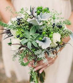Such a great use of textures and greens #succulent #bouquet #wedding