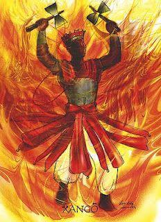 Xangô, orixá do fogo e trovão, protetor da justiça.orixá da pedreira, Xangô - Sangó - linhadasaguas.com.br