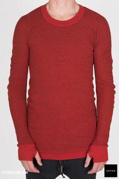 Boris Bidjan Saberi BBS PULL2 F0411T C2 395 € | Seven Shop Men Sweater, Instagram Posts, Red, Sweaters, Shopping, Black, Fashion, Moda, Black People