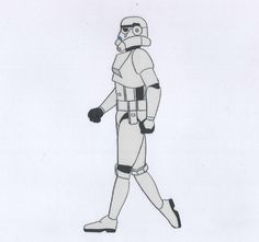"""Star Wars Droids Stormtroopers Production Cel and """"drawing"""" Lucasfilm Nelvana 85-86 by CharlesScottGallery on Etsy"""