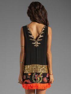 Boho chic, bohemian fashion, maxi dress, fringes Más