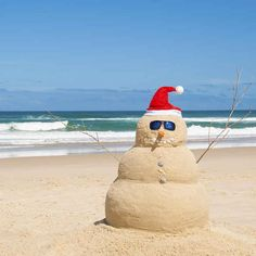 Celebrate Christmas in summer (with 5 lb of fresh prawns and an afternoon foray to the beach)!