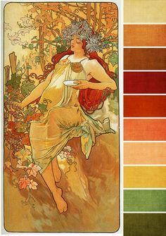 September Monthly Challenge Color Palette