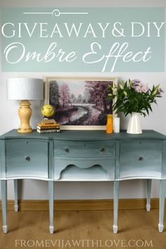 Ombre Effect on Furniture using Old Fashioned Milk Paint, beautiful and easy way to create unique furniture - From Evija with Love
