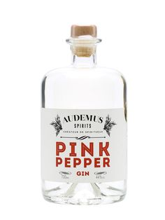 Audemus Pink Pepper Gin: botanicals include pink peppercorns, cardamom, juniper and local honey.