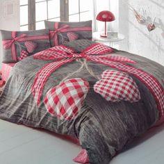 Obliečky s plachtou Lovebox Red 200x220 cm