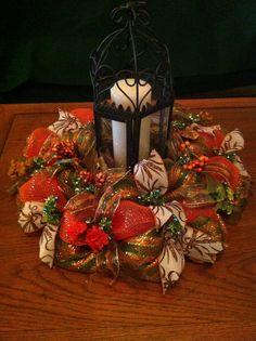 Fall Wreath, Table Centerpiece, Deco Mesh,