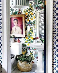 9 Fabulous Tips Can Change Your Life: Traditional Modern Home Decor old rustic home decor.Home Decor Bedroom Storage southern country home decor.Western Home Decor Diy. Bathroom Wallpaper, Of Wallpaper, Wallpaper Ideas, Powder Room Wallpaper, Spring Wallpaper, Holiday Wallpaper, Unique Wallpaper, Colorful Wallpaper, Home Decor Bedroom