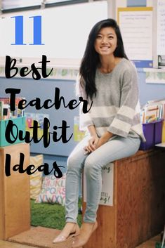 11 best teacher outfits for elementary school teachers. These are the cutest tea… 11 best teacher outfits for elementary school teachers. These are the cutest teacher outfits for spring, summer and fall including cute, casual dresses and accessories. Casual Teacher Outfit, Cute Teacher Outfits, Teacher Dresses, Winter Teacher Outfits, Fall Outfits For School, Summer Work Outfits, Teacher Style, Casual Work Outfits, Best Teacher
