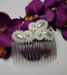 Opaska ozdoba grzebień włosy głowę SOUTACHE ślub w Soutacheria na DaWanda.com