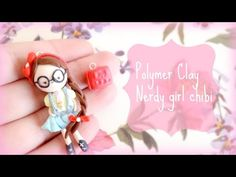 Nerdy girl chibi and a book-Polymer clay tutorial, Back to school series