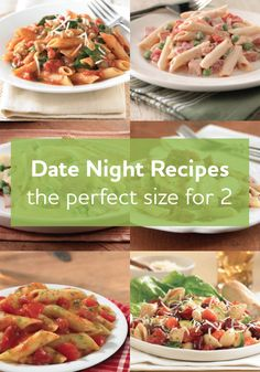 You'll love this collection of recipes just for two, they are the perfect size for a date night.