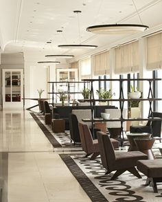 Relax in Hyatt Regency Bishek's lobby, the only five-star hotel in Kyrgyzstan.