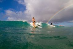 Hawaii Surf Camps for Women - Surf Under the #Rainbow! #Hawaii