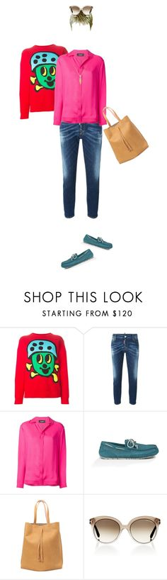 """""""suchan:164"""" by suchan ❤ liked on Polyvore featuring Jeremy Scott, Dsquared2, UGG Australia, Maison Margiela, Tom Ford, Gina Raphaela, Pink, red, JeremyScott and dsquared2"""