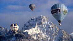 """Flight of Three Balloons, Chateau d'Oex, Switzerland""  #SunKuWriter Free Books http://sunkuwriter.com"