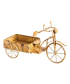 Love this Metal Mini Garden Bicycle Planter by Evergreen on #zulily! #zulilyfinds
