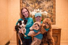 We caught up with Katherine Barrell and Bernie in town from LA at one of our favorite dog-friendly hotels, the Fairmont Royal York. Even the doormen couldn't help but show us photos of their own pups on their camera rolls. Friends from Liberty Pooch, the dog concierge Katherine uses when she's in TO stopped by, including Bernie's best buds, Poyo, a 4 year old Havanese and Finn, a 1 year old Cockapoo. The lobby was overtaken by cuteness which delighted Fairmont guests.