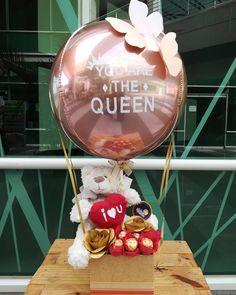 Balloon Box, Balloon Gift, Balloon Flowers, Paper Flowers, Diy Birthday, Birthday Gifts, Craft Gifts, Diy Gifts, Valentines Balloons
