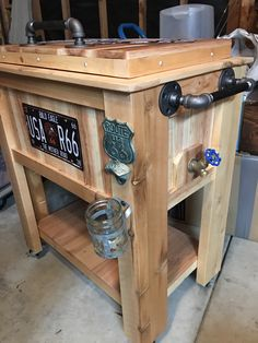 """Fantastic """"bar furniture ideas houses"""" detail is offered on our site. Pallet Cooler, Wood Cooler, Patio Cooler, Diy Cooler, Outdoor Cooler, Bar Furniture, Shabby Chic Furniture, Pallet Furniture, Furniture Projects"""