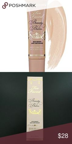 Too Faced Beauty Balm Tinted Linen Glow. New in box Sephora Makeup Face Primer