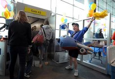 Nothing like being greeted by Spirit Jr. for an early morning flight!    Photo credit: H. Darr Beiser, USA Today