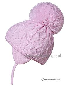 Satila hats for baby girls. Designer bobble hats with tie cords by Satila.Traditional pom pom hats from Satila. Popular warm, winter hats for baby girls and toddler
