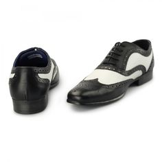 Red Tape GATSBY Mens Leather Funky Brogues Black/White | Shuperb