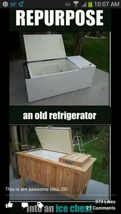 To go with my swinging firepit ;)...but a small fridge
