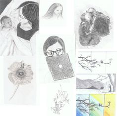 New collages for my art page: Sketches