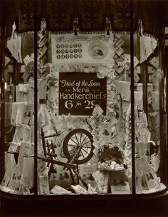 1940: This Fruit of the Loom display appeared in a Woolworth's store window in Brooklyn.