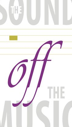 The Sound 'off' the music