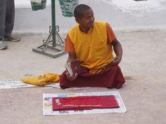 Monje en estupa boudanath