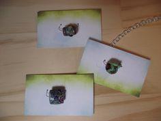 Easy lampwork & single bead displayed on card.