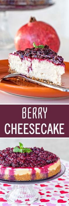 This delicious cheesecake loaded with blackberries, raspberries and pomegranate seeds, will probably be the last dessert you will ever crave.