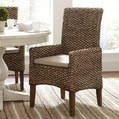 Birch Lane Woven Seagrass Arm Chairs & Reviews   Wayfair