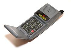 Pretty sure this was my first cell phone, this thing was huge!!