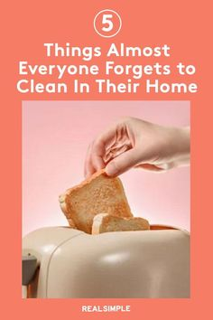 5 Things Almost Everyone Forgets to Clean | Here are five household items that nearly everyone forgets to clean but that only take a few minutes to tackle for a cleaner home in a few minutes. #realsimple #cleaninghacks #lifehacks Laundry Hacks, Tidy Up, Real Simple, 5 Things, Household Items, Vanilla Cake, Cleaning Hacks, Easy, Desserts