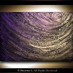 Items similar to art abstract painting original painting art metallic gold heavy texture thick paint 22 x 28 Mattsart on Etsy Art Texture, Purple Art, Palette Knife Painting, Acrylic Art, Art Plastique, Resin Art, Art Techniques, Love Art, Painting Inspiration
