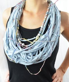 Sky Blue Color T shirt Scarf Bright Colors by theELEPHANTpink, $24.50 #etsysns #RT