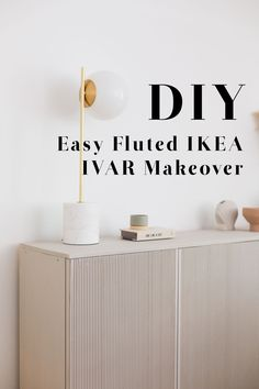 Make this IKEA IVAR Hack in one afternoon with these quick tips for a speedy makeover! Your DIY cabinets will never look so goodwith this strip wood effect!   #IKEA #Hack #IVAR #DIY Diy Interior, Strip Wood, Ivar Hack, Flexible Wood, Ikea Cabinets, Raw Wood, Cabinet Makeover, Deco Furniture, Home Hacks