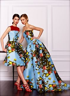 dressforthepast: chiffonandribbons: Carolina Herrera Pre-Fall 2013 Ruby and Josephine