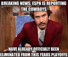 Ha ha. The Cowboys Suck! #WhoDat