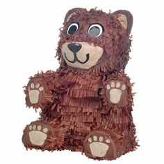 Brown Bear Pinata for Anderson's birthday at Berry Berry Bear Company.
