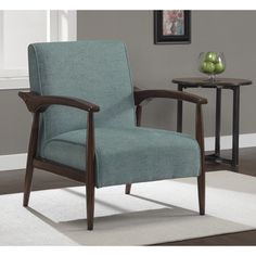 Gracie Aqua Retro Arm Chair | Overstock.com Shopping - Great Deals on Chairs…