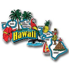Our Hawaii jumbo state magnet measures approximately 9 square inches and has a thickness of 0.1. This Classic Hawaii State Jumbo Magnet is perfect for any refrigerator or metal surface and makes a gre